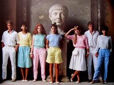 Pastel palette, 80s.  This has to an ad for United Colors of Benneton