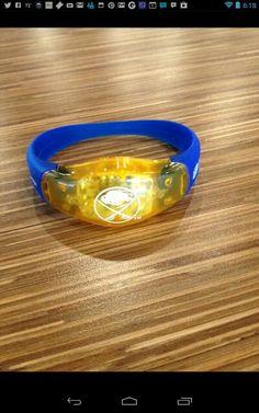 Motion sensor light up LED bracelet given out at home opener 13-14 season