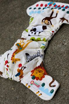 Jungle Jaunt One-Size Fitted Diaper (Woven, New Turned, Organic Bamboo Velour) by thegoodmama.com, via Flickr