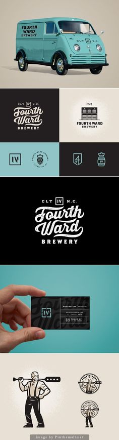 Fourth Ward Brewery Identity by Matt Stevens   Photo holding business card on landing page?