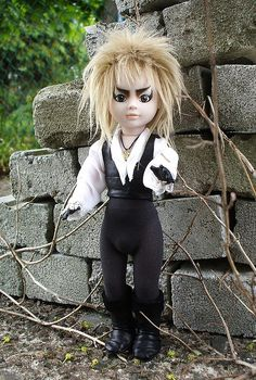 tits-mcgeek:  michelleclairewilliams:  Living Dead Doll custom! Adorable! Labyrinth. Jared The Goblin King.