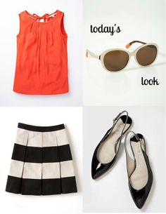 Pair a statement stripe with simple accessories for a look to summon the sun in. #Boden