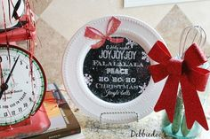Dollar+tree+Christmas+plate+with+free+printable+to+diy+your+own
