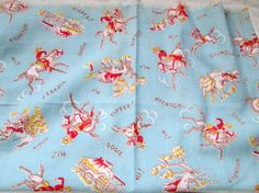 Amber, this is it in a different colorway: Vintage Cotton Feedsack Fabric COWBOY by Theoldwhitecupboard