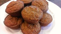 Spiced Pumpkin Muffins - almond meal/flour, Celtic sea salt, baking soda, ground cinnamon, ground nutmeg, ground ginger, ground ginger, ground cloves, coconut oil, Swerve/other sweetener of choice, eggs, canned pumpkin, optional frosting (would omit, but includes recipe)