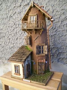 Clay Fairy House, Fairy Houses, Popsicle Stick Houses, Storybook Homes, Tile Crafts, Ceramic Houses, Fairy Doors, Paper Houses, Cardboard Crafts