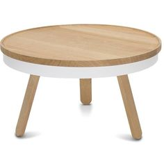 WOODENDOT Batea M Side Table - oak - white (20.540 RUB) ❤ liked on Polyvore featuring home, furniture, tables, accent tables, black, white end table, white lacquer side table, black lacquer side table, oak coffee table and oak end tables