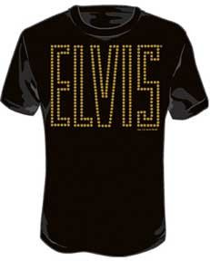 Take the walk of fame and shine like a star in Hollywood with this illuminating Elvis Presley lights men's t-shirt.