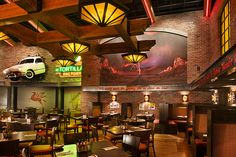 Interior Restaurant Design | Restaurant Decor Design | Casino F & B Design | Thunder Road Steakhouse & Cantina | Route 66 Casino