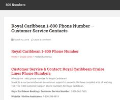 1-800 phone number for Princess Cruise Lines, Norwegian Cruise Lines, Royal Caribbean Cruise Lines and more Toll Free 1-800 customer support phone numbers.