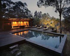 Una tarde de otoño. #pool #water #architecture #field
