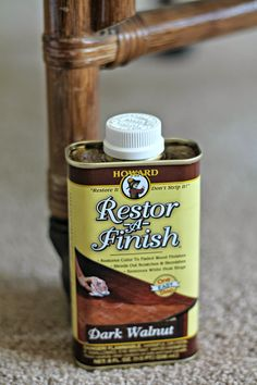 Restor-a-Finish (used on scuffed bamboo chair)