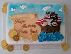 Natasha D'Souza ‏@boutiquecakeshp  Birthday cake for a pirate themed party! #piratecake #birthdaycake