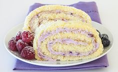Summer Berry Cake Roll