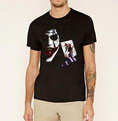 Men     clothing Joker Heath Ledger  Batman 2 The Dark Knight Rie hip hop T Shirt homme  tee