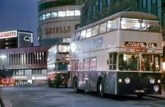 """Birmingham - Courtesy of Geoff Dowling"""" Birmingham 1963, Birmingham Airport, Birmingham City Centre, Night Bus, Sutton Coldfield, Walsall, British Things, Busse, Blackpool"""