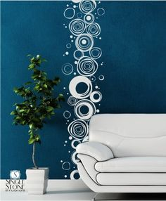 Wall Decals Scribble Circles Pattern - Vinyl Stickers Art. $95.00, via Etsy.