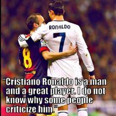 Andrés Iniesta and Cristiano Ronaldo Real Madrid Football Club, Football Icon, World Football, Soccer World, Good Soccer Players, Football Players, Soccer Teams, Sports Teams, Cristiano Ronaldo Quotes
