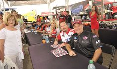 Funny Car Drivers at an autograph session at Indy 2013