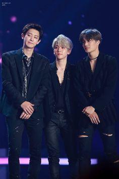 Chanyeol, Baekhyun and Kai