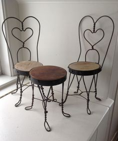 ANTIQUE WROUGHT IRON DOLL TABLE