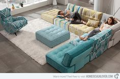 15 Flexible Modern Modular Sofa Systems - Fox Home Design Floor Couch, Floor Cushions, Chair Cushions, Sofa Design, Sofa Futon, Home Living Room, Living Room Decor, Dining Room, Minimalist Decor
