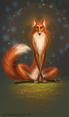 digital, digital art, лис, лиса, fox