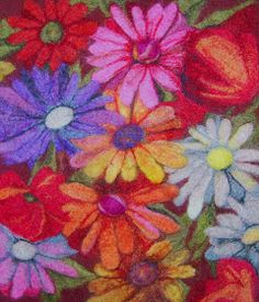 Flea Fair: anne goodhill gohorel- my work felting Felt Pictures, Flower Pictures, Yarn Crafts, Felt Crafts, Diy Projects To Try, Felt Projects, Project Ideas, Needle Felting Tutorials, Felt Fabric