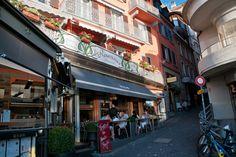 Cafe. Montreux, Switzerland.