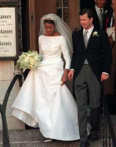 royalcorrespondent:  Wedding of HSH Prince Maximilian of Liechtenstein and Angela Brown, January 29, 2000, New York City-here leaving St. Vincent Ferrer Church