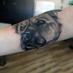 Arm Dog Tattoo