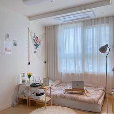 Study Room Decor, Room Ideas Bedroom, Small Room Bedroom, Home Bedroom, Bedroom Decor, Korean Bedroom Ideas, Bedrooms, Home Room Design, Simple Bedroom Design