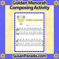 Golden Menorah Composing Activity