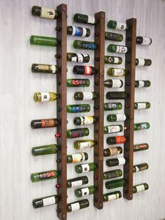 Vertical Wine Rack Project Idea Simple Home Decorating Design Elements Difficulty: Medium MaritimeVintage.com