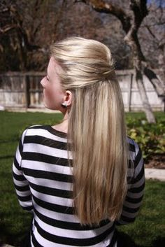 fancy half up, 30 hairstyles, 30 days on this blog-video tutorials