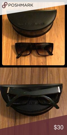 Marc by Marc Jacobs Sunglasses Square frames with fun green striped side detailing. Marc By Marc Jacobs Accessories Sunglasses