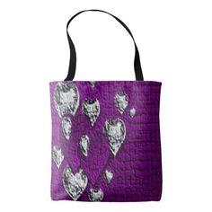 Purple Hearts Tote Bag
