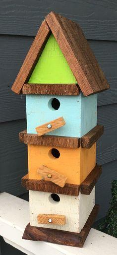 Bird House Kits Make Great Bird Houses Bird House Feeder, Diy Bird Feeder, Modern Birdhouses, Birdhouse Designs, Bird House Kits, Bird Aviary, Bird Boxes, Kit Homes, Mid Century House