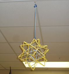 Stellated Icosahedron Project {20 Pointed Star} Perfect for end of year project in middle or high school classrooms.