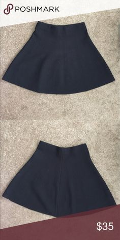 "Zara Basic Black Knit Skirt Size M EXCELLENT CONDITION!!!!!!! A line fit flare skirt size medium. Textured stretch knit. Length 18"" .🎈Make an offer 🎈accepts most offers Zara Skirts A-Line or Full"