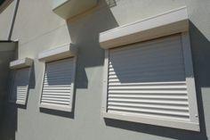 rolety zewnętrzne - białe rolety aluminiowe - nowoczesne rozwiązania