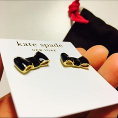 ✨Brand new! Kate Spade Take a Bow Black Earrings Super cute, gorgeous and classy black bow ties that every girl should invest in! Great as gift. Comes with dust bag and paper bag! :) great for work or play! kate spade Jewelry Earrings
