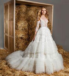 vestido de noiva zuhair murad coleção 2015 Molly com top transparente #casarcomgosto