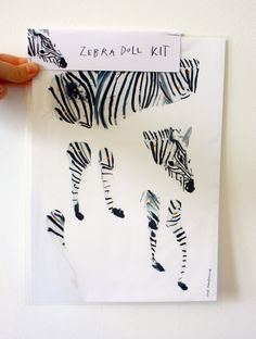 Zebra Doll - Articulated paper doll Kit.