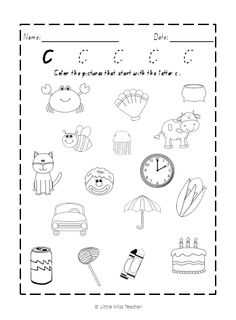 alphabet worksheets all 26 letters included - Letter C Coloring Pages For Toddlers