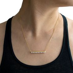 Shop Melanie Georgacopoulos - solid yellow gold set externally with / white freshwater pearls. Rose Gold Pendant, Gold Pendant Necklace, Diamond Bar, White Freshwater Pearl, Cultured Pearls, Fine Jewelry, White Gold, Necklaces, Gold Necklace