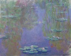 Claude Monet - Water Lilies, 1903 at Monet Exhibit at Sakıp Sabancı Museum Istanbul Turkey - (from exhibit catalog book) Canvas Artwork, Canvas Art Prints, Canvas Wall Art, Renoir, Monet Exhibition, Monet Water Lilies, Monet Paintings, Illustrations, Art Museum