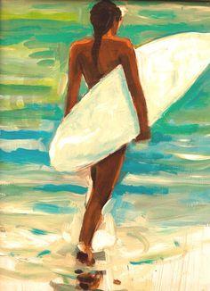 John Holm art — Water world Aloha Images Gallery, Kauai Pop Art Drawing, Art Drawings, Romantic Comics, Vintage Surfboards, Surf Art, Portrait Art, Portraits, Beach Art, Anime Art Girl