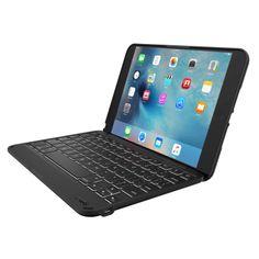 Zagg Folio cases with backlit keyboards are the best. Folio Case with Backlit Keyboard for the Apple iPad mini 4 (Black/Black)