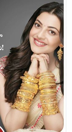 Loads and loads of gold bangles! Beautiful Girl Indian, Beautiful Girl Image, Most Beautiful Indian Actress, Beautiful Hands, Gold Bangles Design, Gold Jewellery Design, Gold Jewelry, Jewelery, Beautiful Bollywood Actress